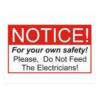 Notice / Electrician Postcard