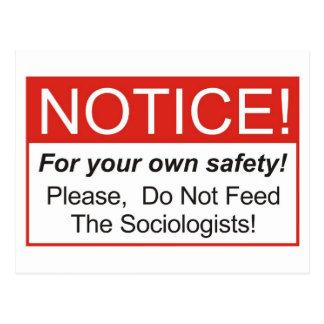 Notice Sociologist Post Cards