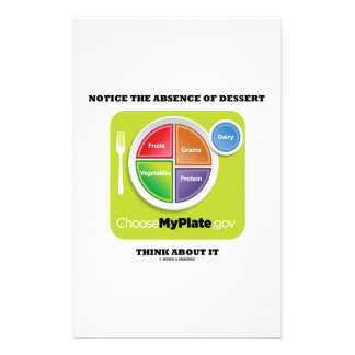 Notice The Absence Of Dessert Think About It Custom Stationery