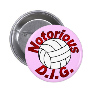 Notorious D.I.G. (pink) 6 Cm Round Badge