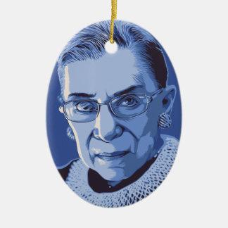 Notorious RBG Christmas Ornament