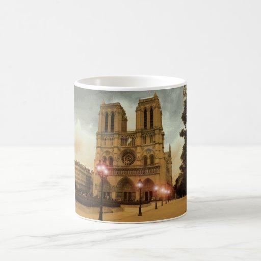 Notre Dame Basic White Mug