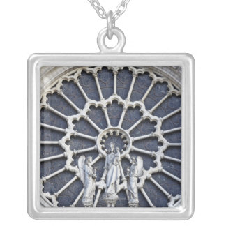 Notre Dame Cathedral, detail Silver Plated Necklace