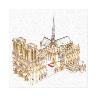 Notre-Dame Cathedral. Paris France Canvas Print