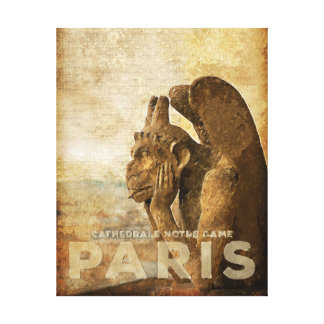 Notre Dame Cathedral Paris, le Stryga Chimera Canvas Print