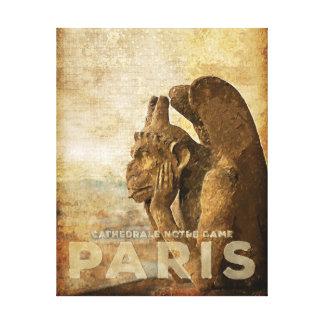 Notre Dame Cathedral Paris, le Stryga Chimera Canvas Print