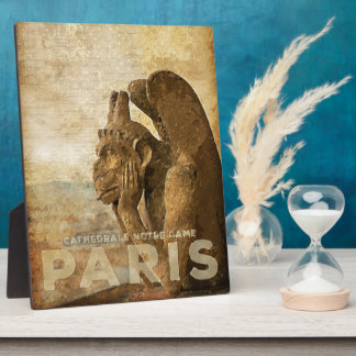 Notre Dame Cathedral Paris, le Stryga Chimera Display Plaque