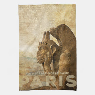 Notre Dame Cathedral Paris, le Stryga Chimera Hand Towels