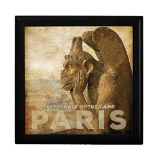 Notre Dame Cathedral Paris, le Stryga Chimera Large Square Gift Box