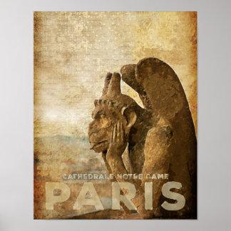 Notre Dame Cathedral Paris, le Stryga Chimera Poster