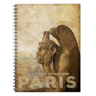 Notre Dame Cathedral Paris, le Stryga Chimera Spiral Notebooks