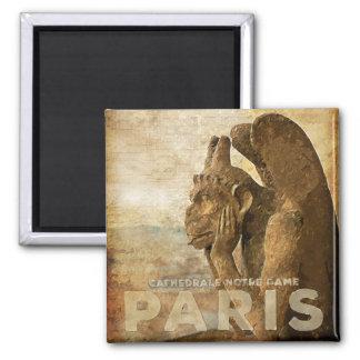 Notre Dame Cathedral Paris, le Stryga Chimera Square Magnet