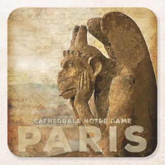 Notre Dame Cathedral Paris, le Stryga Chimera Square Paper Coaster