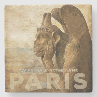 Notre Dame Cathedral Paris, le Stryga Chimera Stone Beverage Coaster