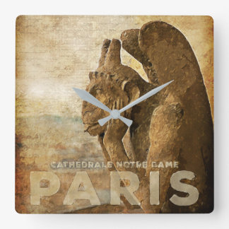 Notre Dame Cathedral Paris, le Stryga Chimera Wall Clocks
