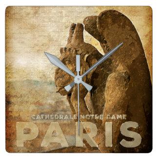 Notre Dame Cathedral Paris, le Stryga Chimera Wall Clocks