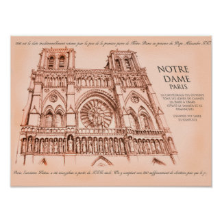 Notre Dame Cathedral - Paris Poster