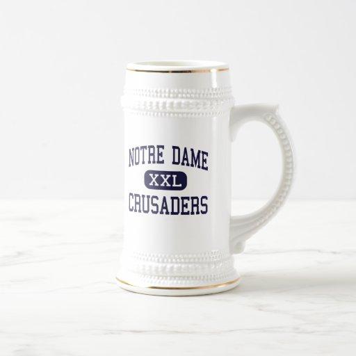 Notre Dame - Crusaders - High - Elmira New York Beer Steins