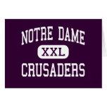 Notre Dame - Crusaders - High - Elmira New York Cards
