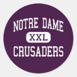 Notre Dame - Crusaders - High - Elmira New York Sticker