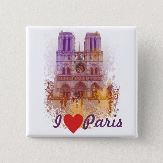 Notre Dame de Paris 15 Cm Square Badge