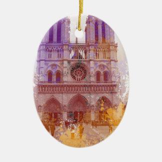 Notre Dame de Paris Ceramic Oval Decoration