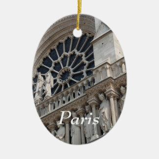 Notre Dame detail Ceramic Oval Decoration