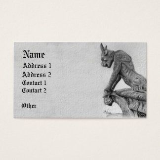Notre Dame Gargoyle Business Card