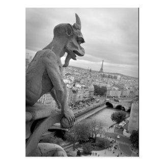 Notre Dame Gargoyle Postcard