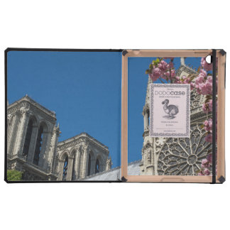 Notre Dame in Paris, France with Spring Flowers Covers For iPad