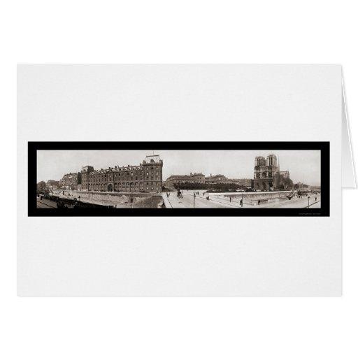 Notre Dame in Paris Photo 1909 Cards