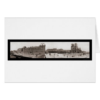 Notre Dame in Paris Photo 1909 Greeting Card