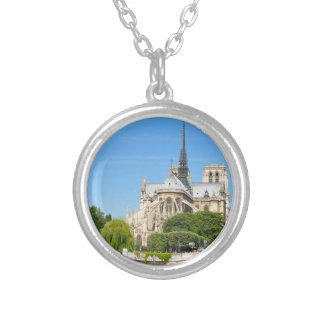 Notre Dame in Paris Silver Plated Necklace