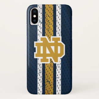 Notre Dame   Jersey Pattern iPhone X Case
