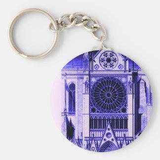 notre dame lt blue basic round button key ring