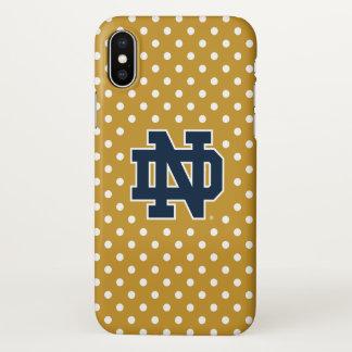 Notre Dame   Mini Polka Dots iPhone X Case