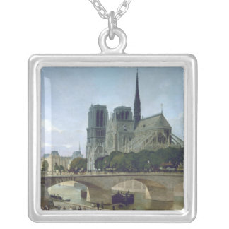 Notre Dame, Paris, 1884 Silver Plated Necklace