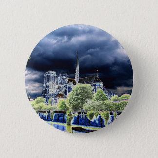 Notre Dame, Paris 4 6 Cm Round Badge