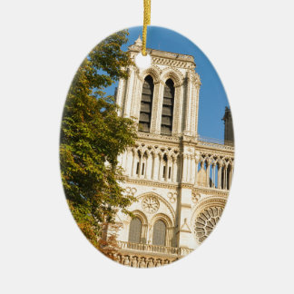 Notre Dame, Paris Ceramic Oval Decoration