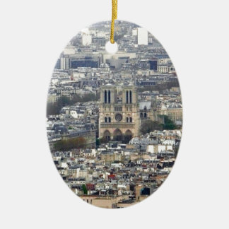 Notre Dame Paris France Ceramic Oval Decoration
