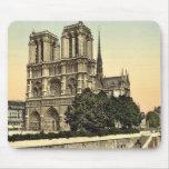 Notre Dame, Paris, France classic Photochrom Mouse Pad
