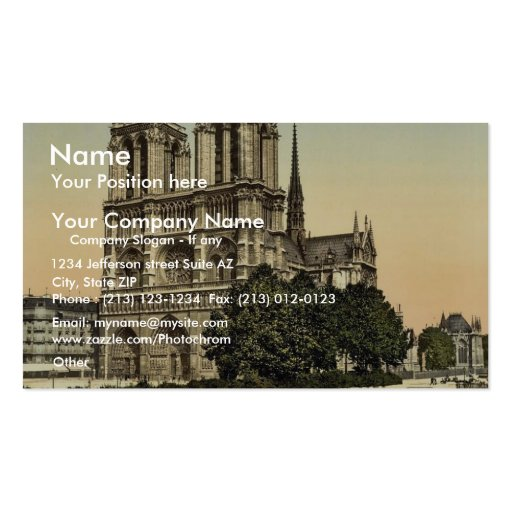 Notre Dame, Paris, France classic Photochrom Pack Of Standard Business Cards