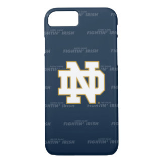 Notre Dame   Repeating Pattern iPhone 8/7 Case