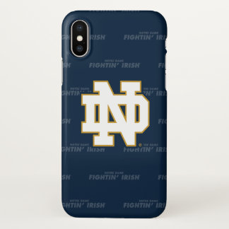Notre Dame   Repeating Pattern iPhone X Case