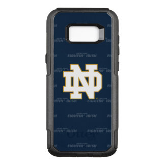 Notre Dame   Repeating Pattern OtterBox Commuter Samsung Galaxy S8+ Case