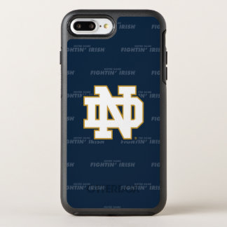 Notre Dame   Repeating Pattern OtterBox Symmetry iPhone 8 Plus/7 Plus Case