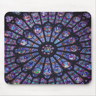 Notre Dame Rose Window Mouse Mat