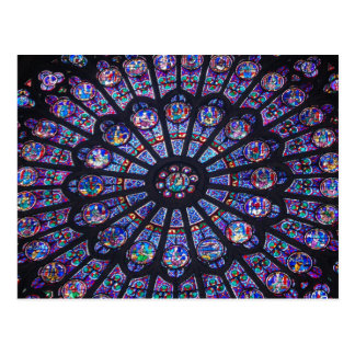 Notre Dame Rose Window Postcard