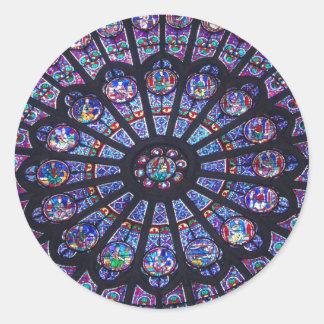 Notre Dame Rose Window Round Sticker
