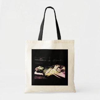 Notre Dame Statue Grunge Budget Tote Bag